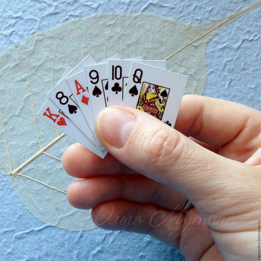 Мини карты, карты, миниатюра, игры в дорогу, игральные карты,