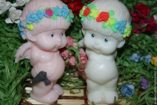Мыло ручной работы. Ярмарка Мастеров - ручная работа. Купить ангелочки большие из мыльца. Handmade. Разноцветный, мыло сувенирное