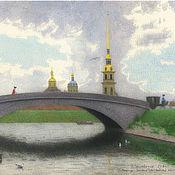Картины и панно handmade. Livemaster - original item Posters on the wall to buy Internet With. Pb. Western artillery bridge. Handmade.