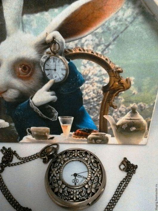 """Часы ручной работы. Ярмарка Мастеров - ручная работа. Купить Часы карманные """"Цветочный узор"""". Handmade. Часы, часы на цепочке"""