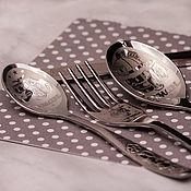 Наборы посуды ручной работы. Ярмарка Мастеров - ручная работа Детский именной столовый набор. Handmade.