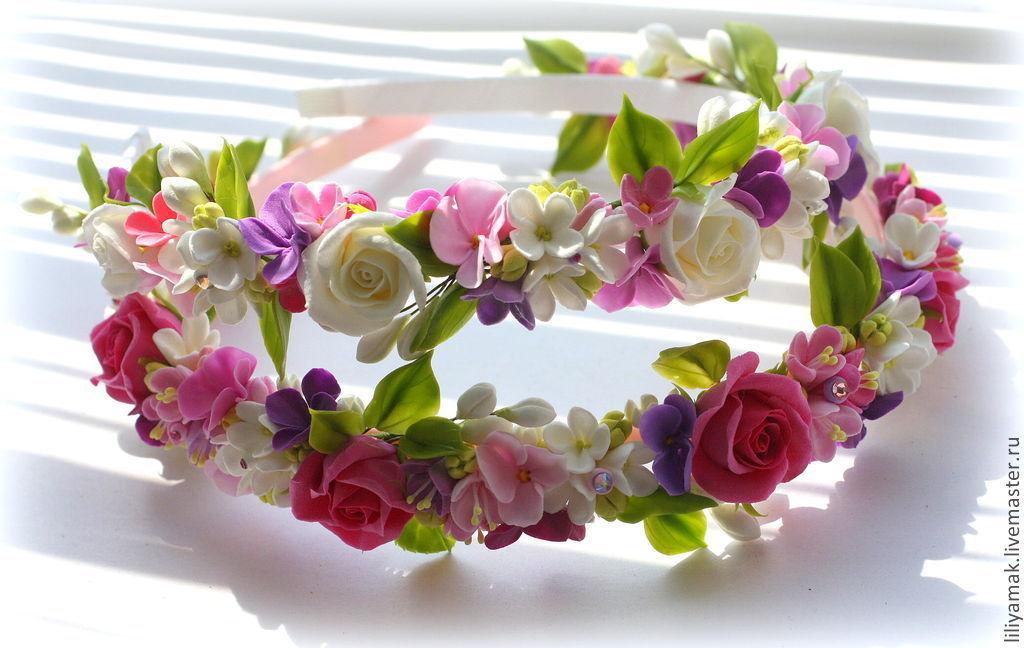 Ободок с цветами купить в магазине «Дом игрушек» 9