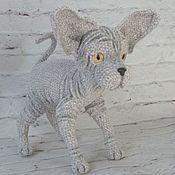 Мягкие игрушки ручной работы. Ярмарка Мастеров - ручная работа Кот Сфинкс. Handmade.