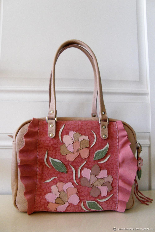 Bag leather 'Flying petals', Classic Bag, Yaroslavl,  Фото №1