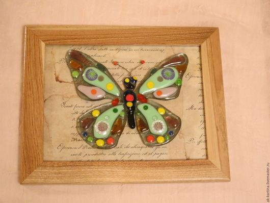 Животные ручной работы. Ярмарка Мастеров - ручная работа. Купить Бабочки - две работы, Птички в клетке. Фьюзинг. Handmade. Комбинированный