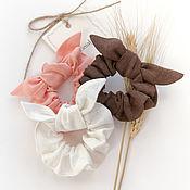 Украшения handmade. Livemaster - original item Set of fabric volume elastic bands for hair, 3 PCs. Handmade.