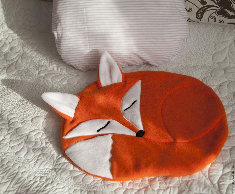 Как сшить подушку лиса своими руками