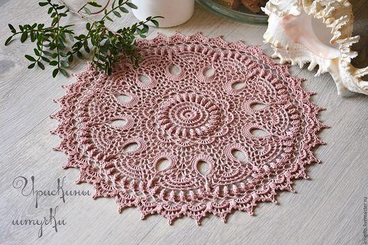 Текстиль, ковры ручной работы. Ярмарка Мастеров - ручная работа. Купить Салфетка крючком Розовое утро. Handmade. Салфетка, подарок