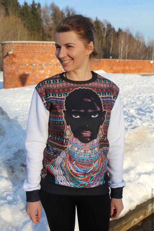 """Спортивная одежда ручной работы. Ярмарка Мастеров - ручная работа. Купить Свитшот """"Африка"""". Handmade. Принт, свитшот, свитшот купить"""
