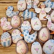 Сувениры и подарки ручной работы. Ярмарка Мастеров - ручная работа Пасха в стиле Шебби Шик (набор 20 пряников в корзинке). Handmade.