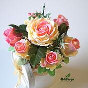 Подарки на 14 февраля ручной работы. Ярмарка Мастеров - ручная работа Ароматный букет роз из мыла ручной работы. Handmade.