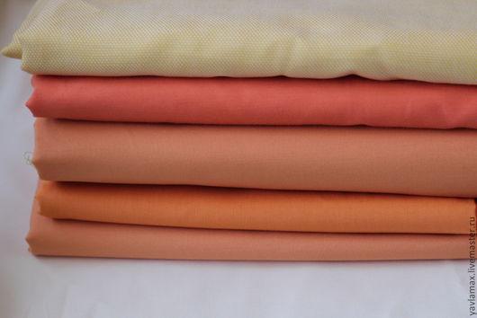 """Шитье ручной работы. Ярмарка Мастеров - ручная работа. Купить Набор тканей """"Базовый -2"""". Handmade. Оранжевый, ткань для рукоделия"""