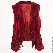 Одежда ручной работы. Ярмарка Мастеров - ручная работа Жилет  Ализарин. Handmade.