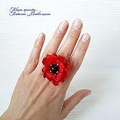 Украшения handmade. Livemaster - original item Ring Mak. flower ring. Ring with flowers.. Handmade.