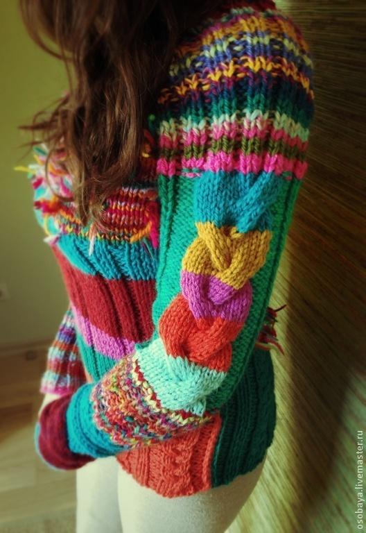 Кофты и свитера ручной работы. Ярмарка Мастеров - ручная работа. Купить sweeter намбер two. Handmade. Вязайн, теплый и цветной