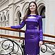 Dresses handmade. Livemaster - handmade. Buy Dress 012.Purple, fancy dress, artificial silk