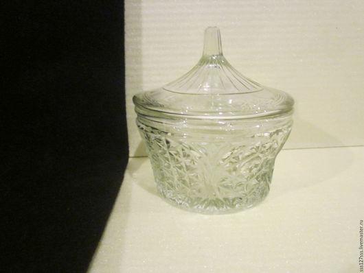 Винтажная посуда. Ярмарка Мастеров - ручная работа. Купить (10-43-В) ШКАТУЛКА вазочка стекло 50 - е годы ВИНТАЖ. Handmade.