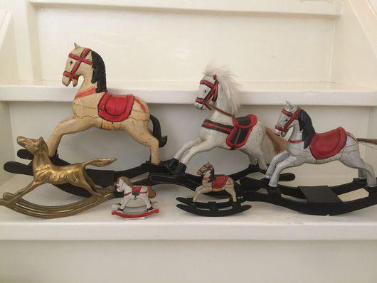 Винтажные куклы и игрушки. Ярмарка Мастеров - ручная работа. Купить Набор лошадок для куклы или мишки. Handmade. Антик