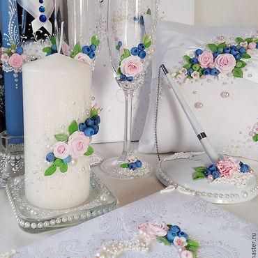 """Свадебный салон ручной работы. Ярмарка Мастеров - ручная работа Свадебный комплект """"Ягодный"""". Handmade."""
