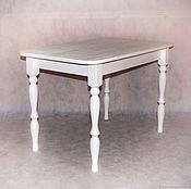 Столы ручной работы. Ярмарка Мастеров - ручная работа Обеденный стол из массива сосны. Handmade.