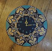 """Для дома и интерьера ручной работы. Ярмарка Мастеров - ручная работа Настенные часы """"Лазурный берег"""". Handmade."""