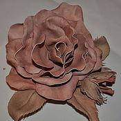 Украшения ручной работы. Ярмарка Мастеров - ручная работа Брошь  - цветок из фоамирана. Handmade.