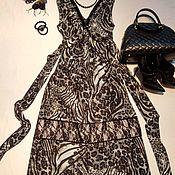 """Одежда ручной работы. Ярмарка Мастеров - ручная работа Платье """"Леопардовые волны"""". Handmade."""
