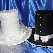 """Свадебный салон ручной работы. Ярмарка Мастеров - ручная работа Украшения на автомобиль """"Шляпы большие"""". Handmade."""