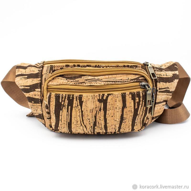 Bags & Accessories handmade. Livemaster - handmade. Buy Eco-friendly unisex waist bag from Portuguese cork handmade.