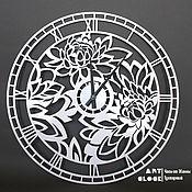 """Для дома и интерьера handmade. Livemaster - original item Настенные часы """"Пионы"""" из металла 40 см. Handmade."""