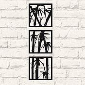 """Картины ручной работы. Ярмарка Мастеров - ручная работа Модульное панно """"Бамбук"""". Handmade."""