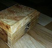 Для дома и интерьера ручной работы. Ярмарка Мастеров - ручная работа Шкатулка из капа клена ясенелистного. Handmade.