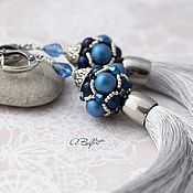 Украшения handmade. Livemaster - original item earrings-brush with