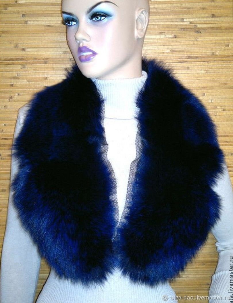 ♥ 									neckties handmade in. Fair Masters - handmade. Buy Boa from Fox.Detachable collar.The fur collar.Collar made of Fox fur. Handmade.