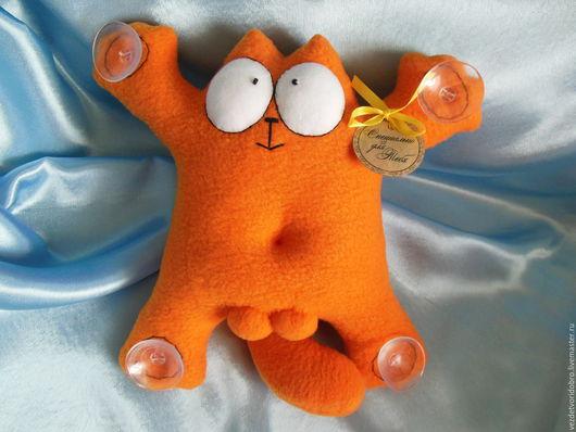 Игрушки животные, ручной работы. Ярмарка Мастеров - ручная работа. Купить мягкая  игрушка кот Саймона  на присосках в авто. Handmade.