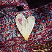 Украшения ручной работы. Ярмарка Мастеров - ручная работа Брошь-сердце, тюльпан. Handmade.