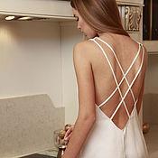 Одежда ручной работы. Ярмарка Мастеров - ручная работа Шелковая ночная сорочка D11. Handmade.