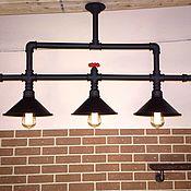 Потолочный светильник-люстра в стиле Лофт (Loft), Индастриал, Стимпанк
