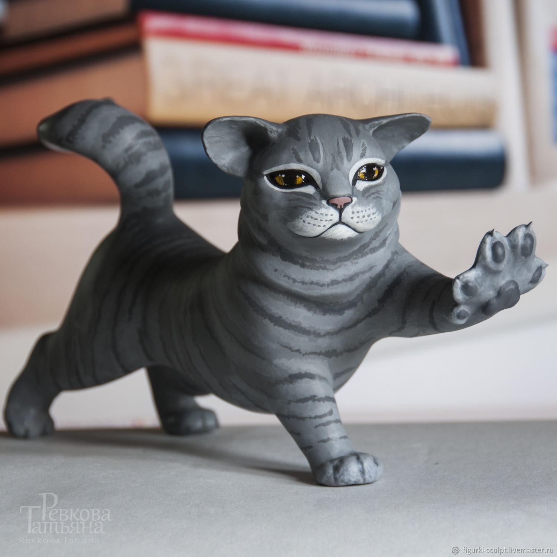 Gray CAT, interior decor (cat, cat), Interior elements, Moscow,  Фото №1
