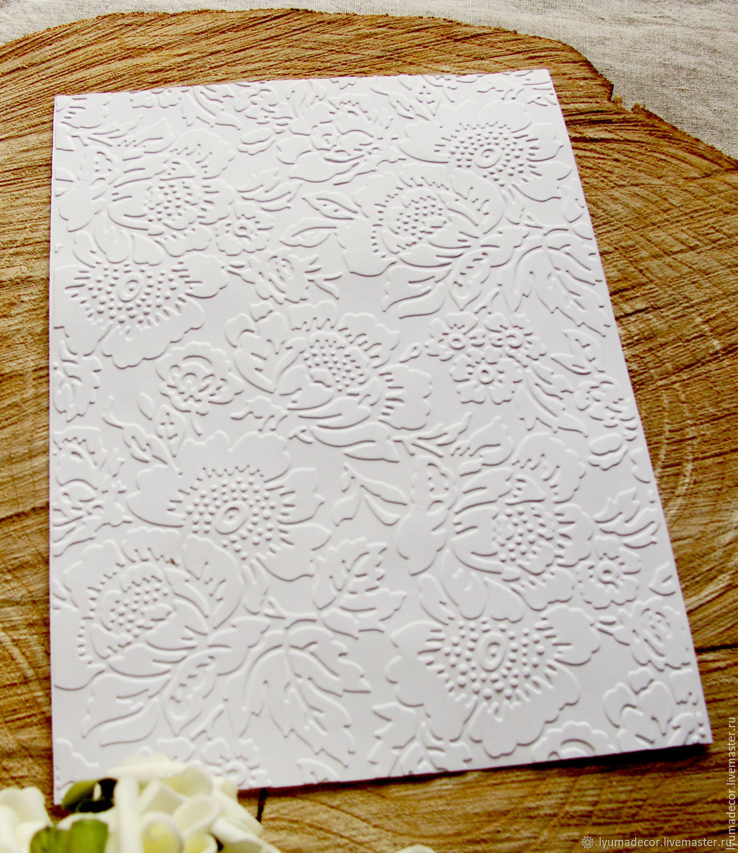 Открытки с тиснением на бумаге, пасхе