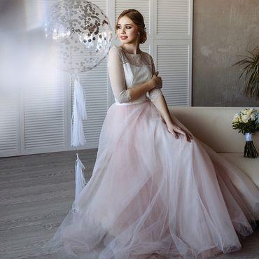 Свадебный салон ручной работы. Ярмарка Мастеров - ручная работа Свадебный комплект кружевной топ+юбка. Handmade.