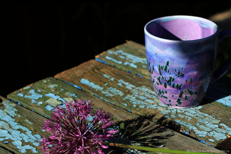 Керамические бокалы Фиолетовые фантазии – купить на Ярмарке Мастеров – 82JFERU   Кружки и чашки, Москва