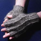 "Аксессуары handmade. Livemaster - original item Men`s knitted fingerless gloves ""Winds"". Handmade."