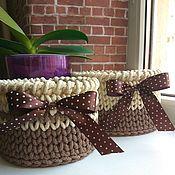 Для дома и интерьера ручной работы. Ярмарка Мастеров - ручная работа Набор корзинок из полиэфирного шнура. Handmade.