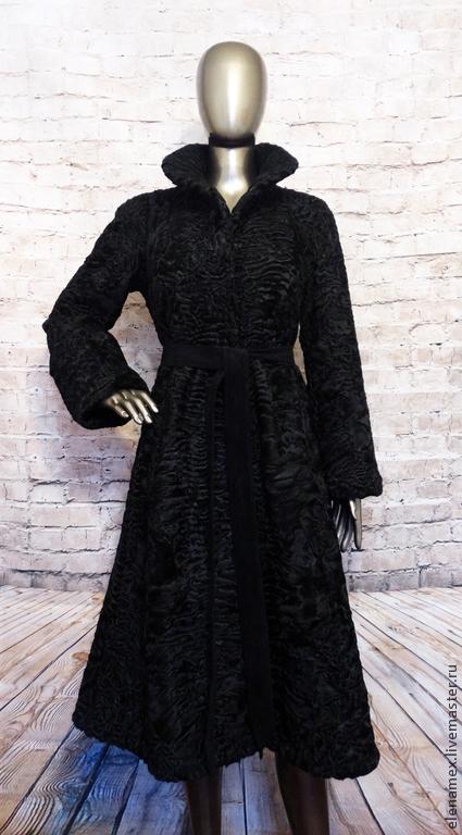 Верхняя одежда ручной работы. Ярмарка Мастеров - ручная работа. Купить Пальто из каракуля swakara. Handmade. Каракуль, женское пальто