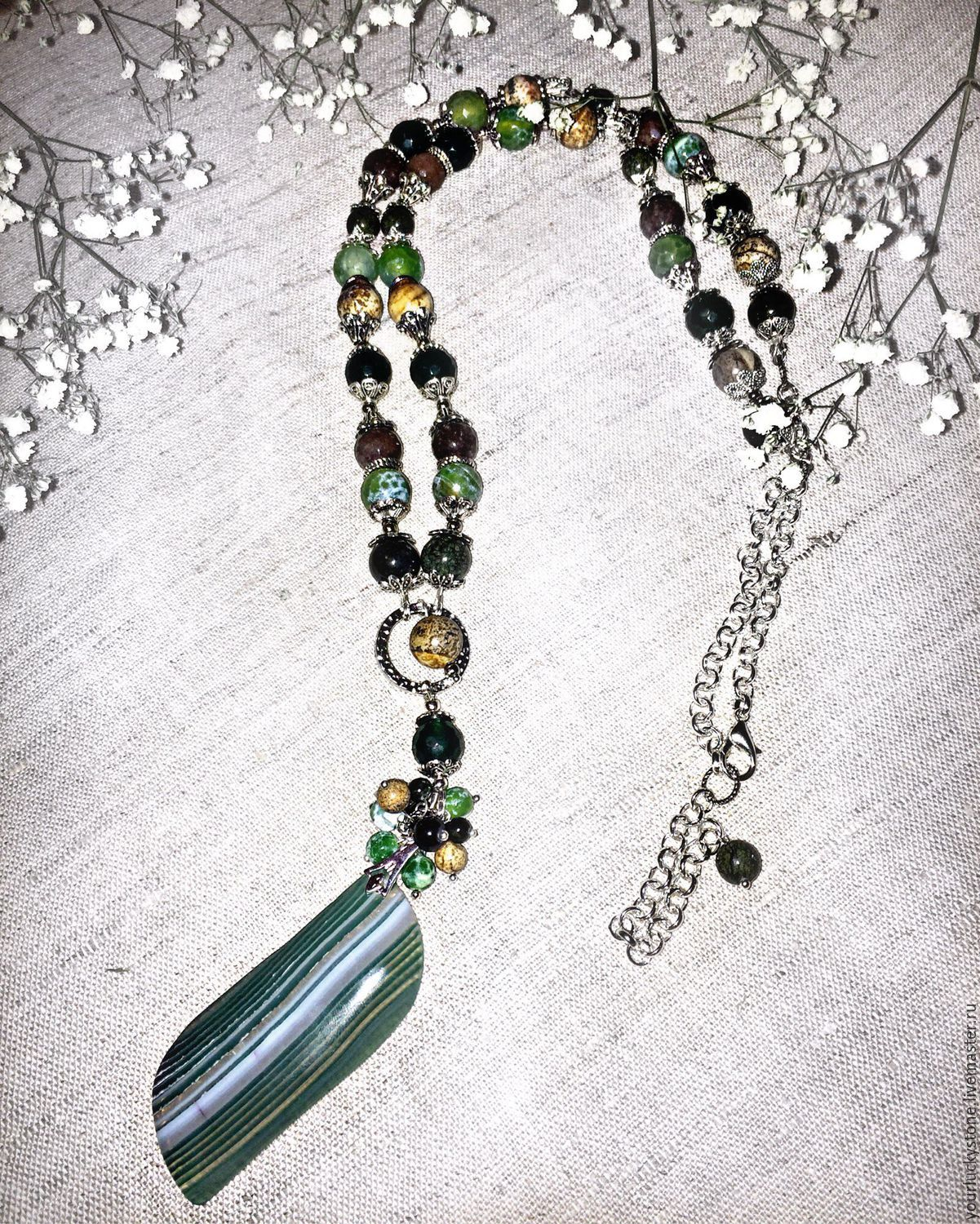 With pendant 'In harmony with nature', Necklace, Tolyatti,  Фото №1