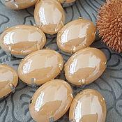 Crystals handmade. Livemaster - original item Pearl rhinestones oval 13h18 mm