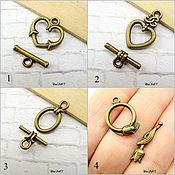 Материалы для творчества handmade. Livemaster - original item Toggle. Lock for jewelry Art.ZU04. Handmade.
