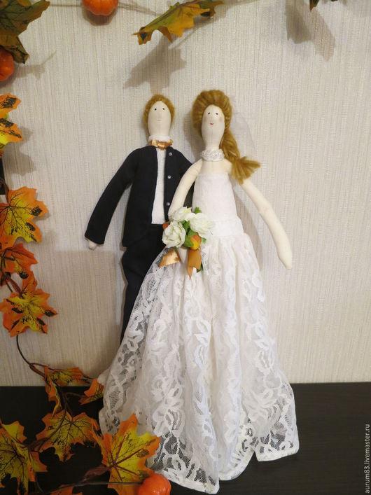 Куклы Тильды ручной работы. Ярмарка Мастеров - ручная работа. Купить Осенняя свадьба. Handmade. Белый, куклы ручной работы