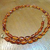 Украшения handmade. Livemaster - original item Small amber necklace (Baltic) in 14K gold. Handmade.
